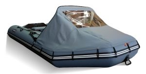 Фото носового тента для лодки Хантер 320